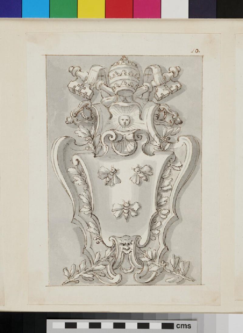 Design of the arms of Pope Urban VIII, Maffeo Barberini