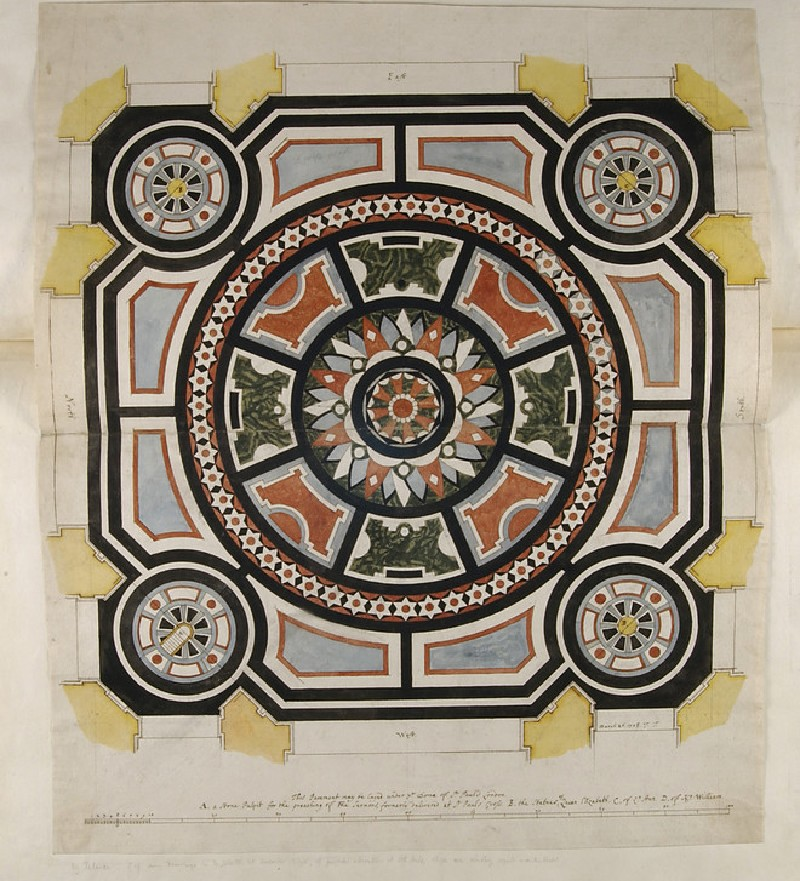 Design for a Marble Pavement beneath the Dome of St Paul's Cathedral (WA1925.342.27)
