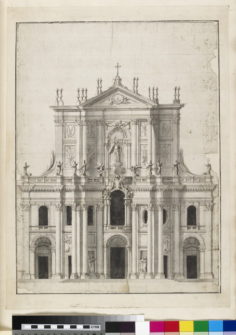 Design of a proposed façade for S.  Giovanni in Laterano