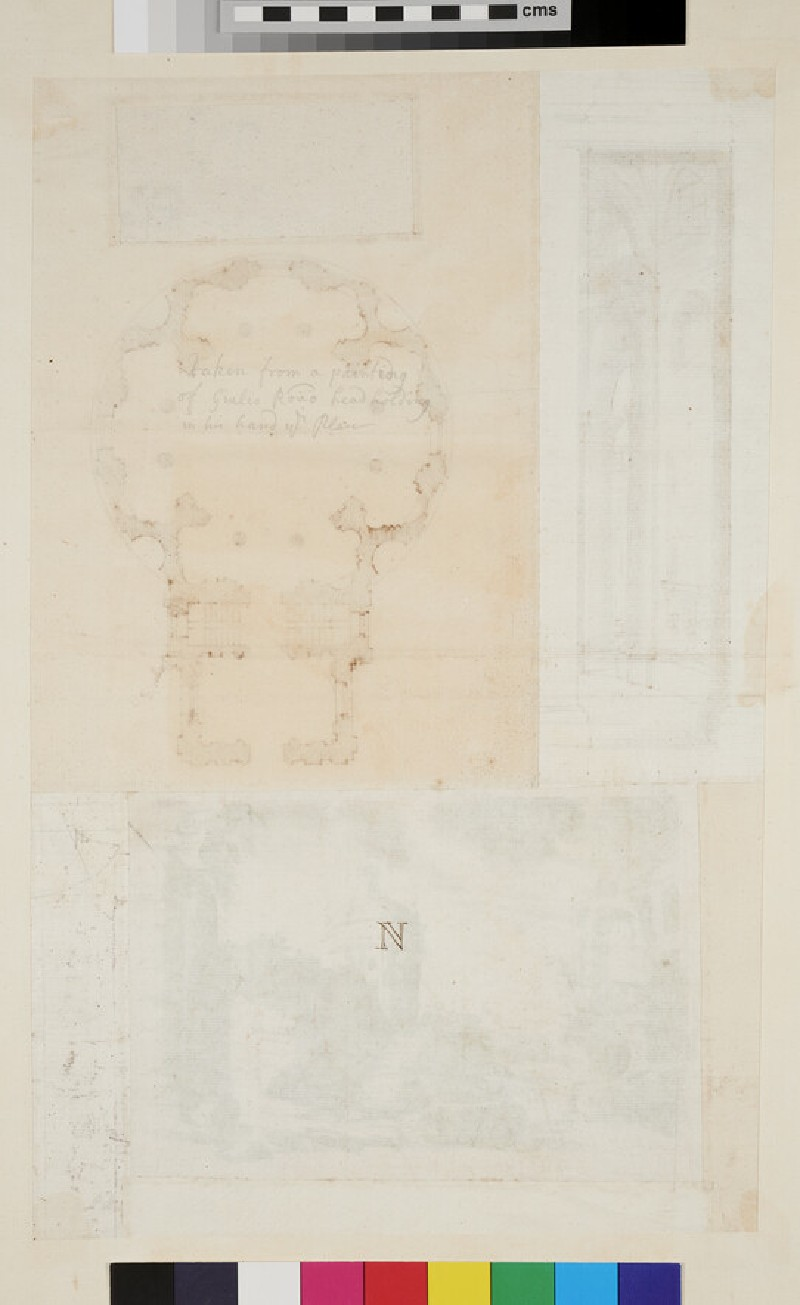 Four different drawings joined together (WA1925.342.40, verso)