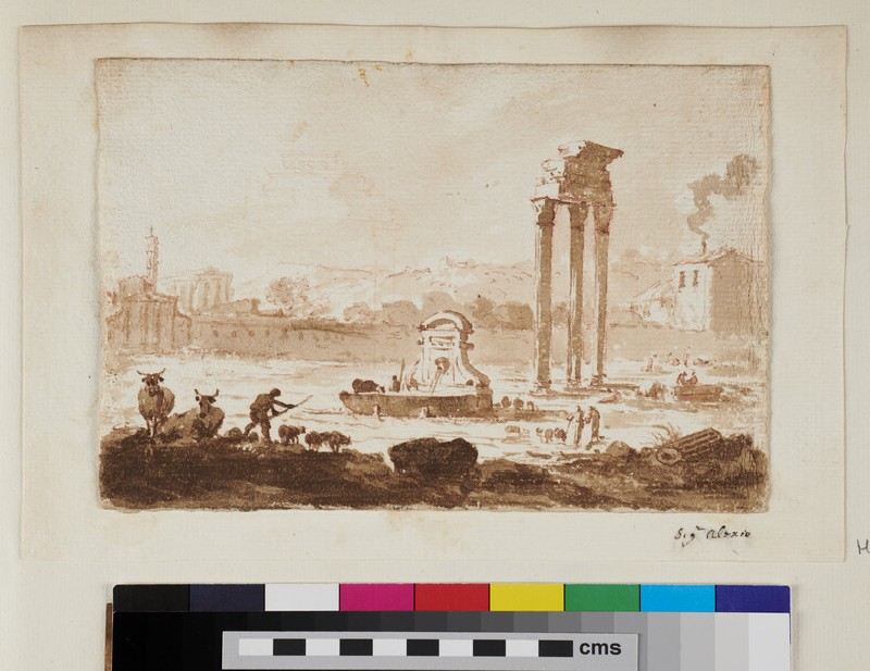 View of the Forum, Rome (WA1925.342.41.1, recto)