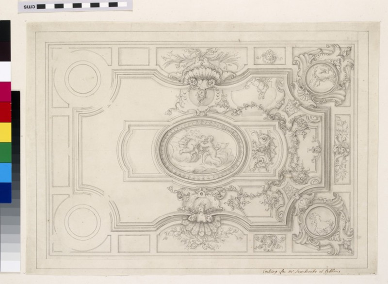 Design of the upright of a pulpit (WA1925.343.40)