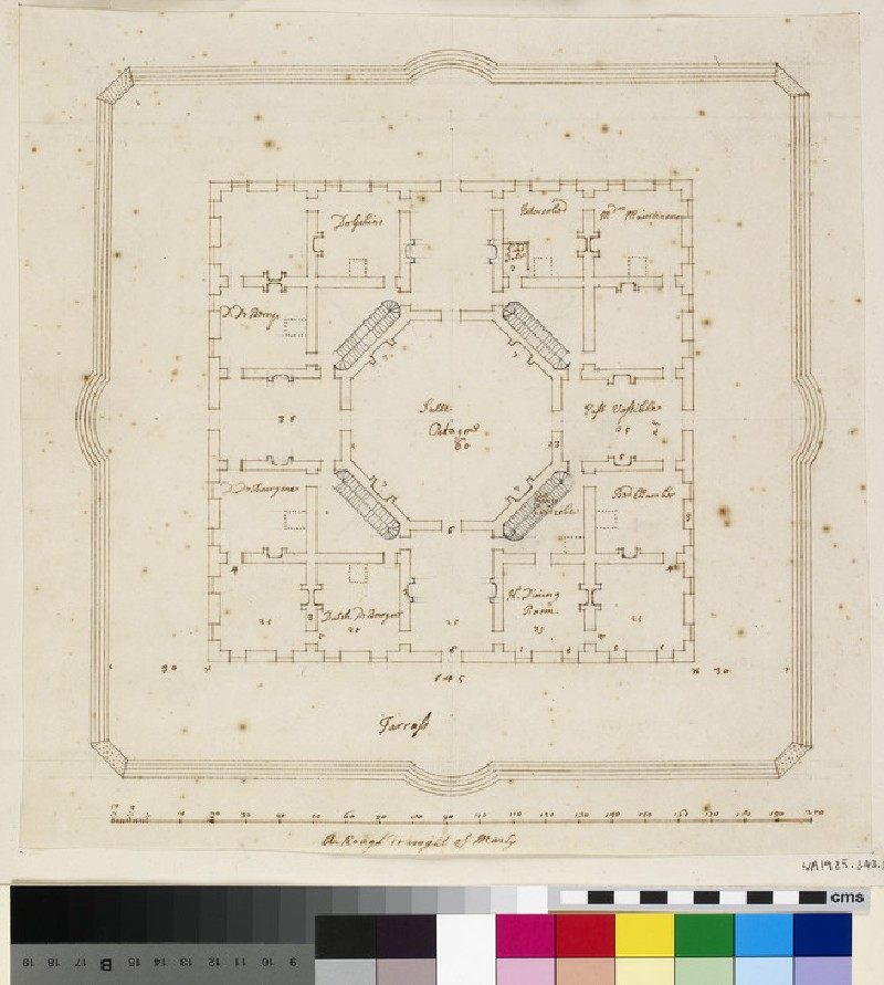 Plan of the Chateau de Marly (WA1925.343.59)