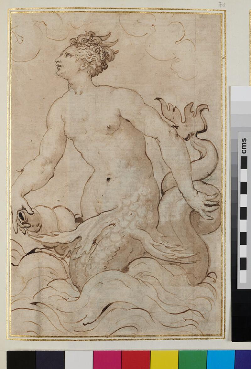 Marine Deity holding a conch (WA1925.344.70, verso)