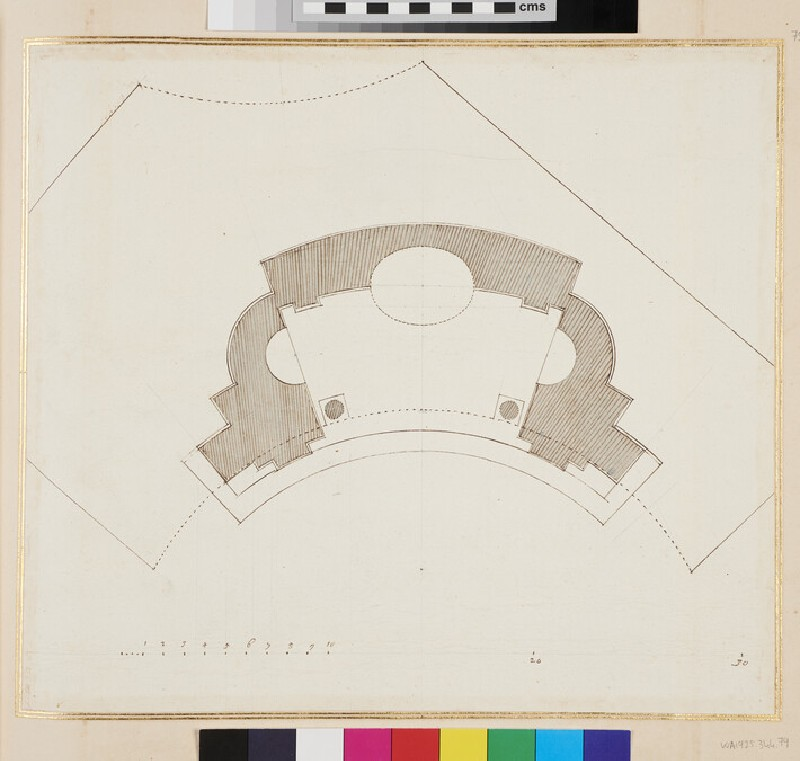 Plan for a building (verso)