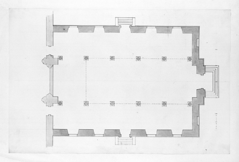 Design of the plan of an assembly hall (WA1925.343.1)