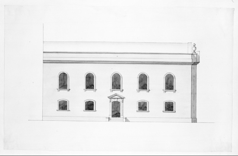 Design of the upright of the side of the assembly hall