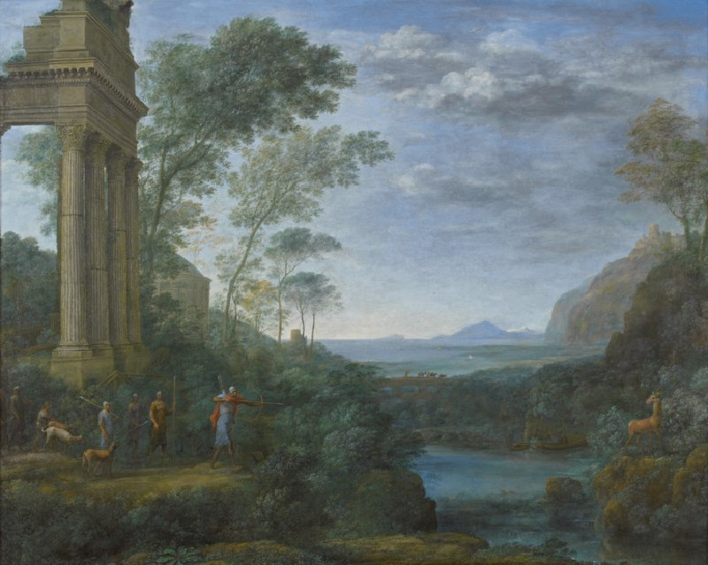 Landscape with Ascanius shooting the Stag of Sylvia (WA1926.1)