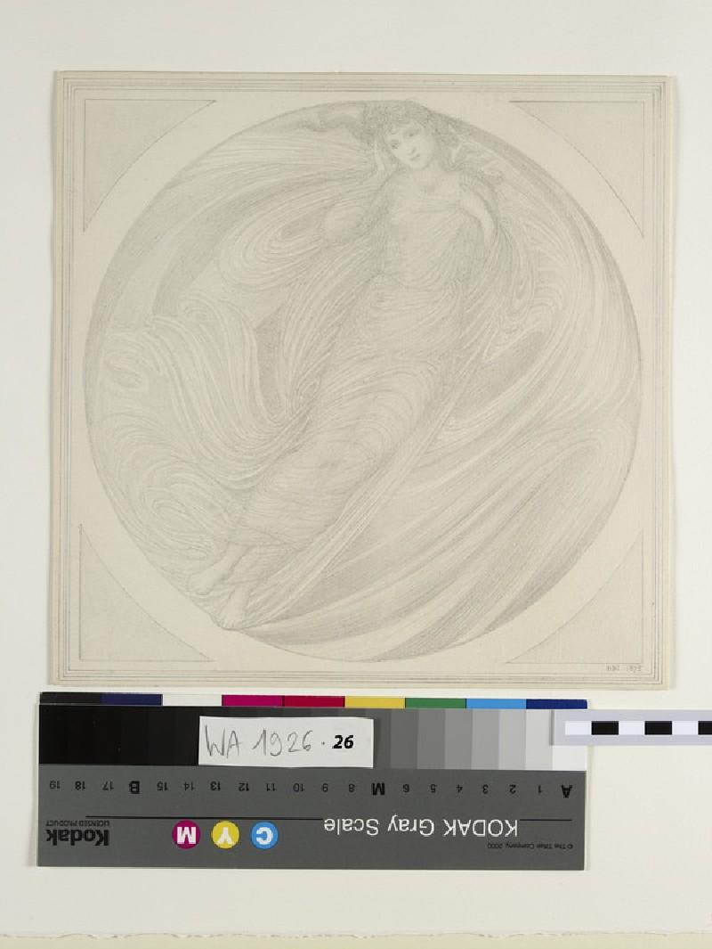 Eurydice floating among flames (WA1926.26)