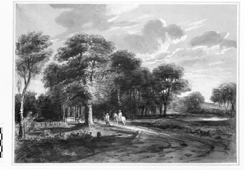 Landscape with a Road on the Outskirts of a Wood