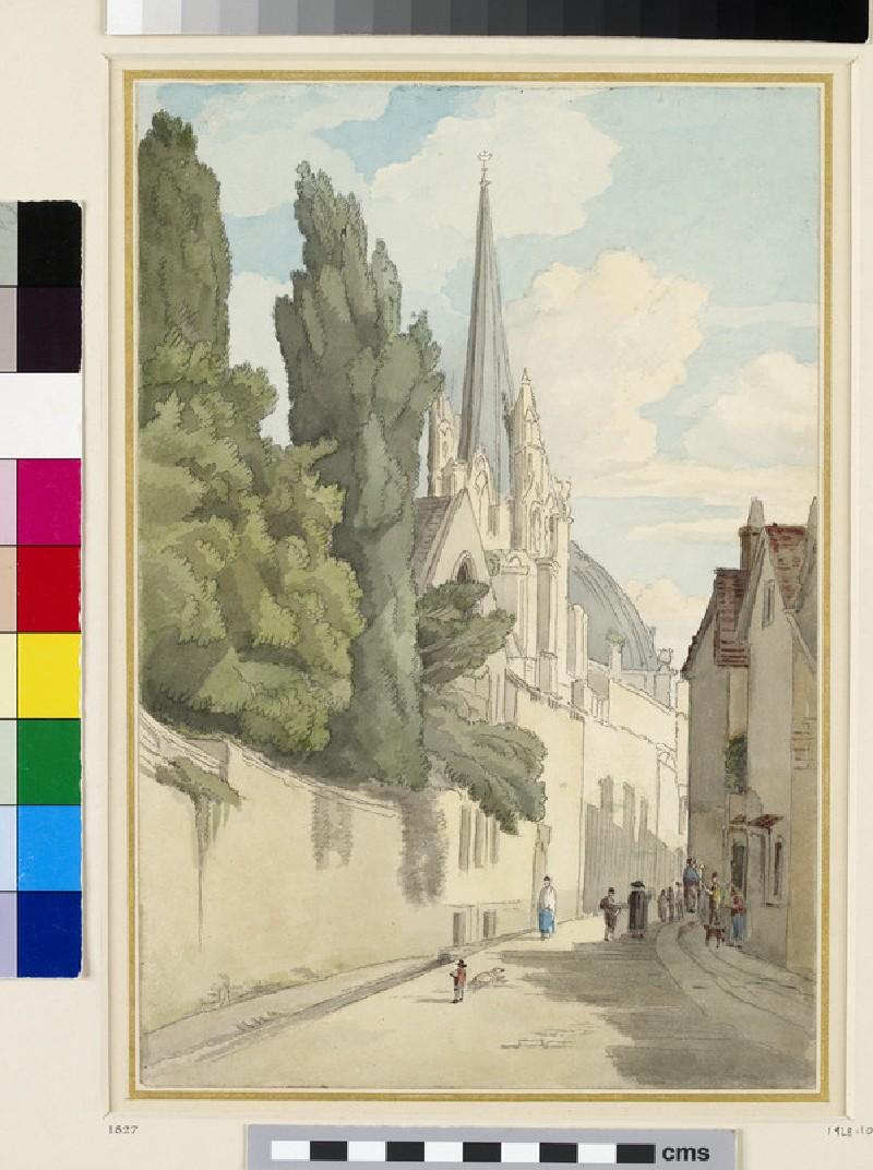 View down Magpie Lane, Oxford (WA1928.10)