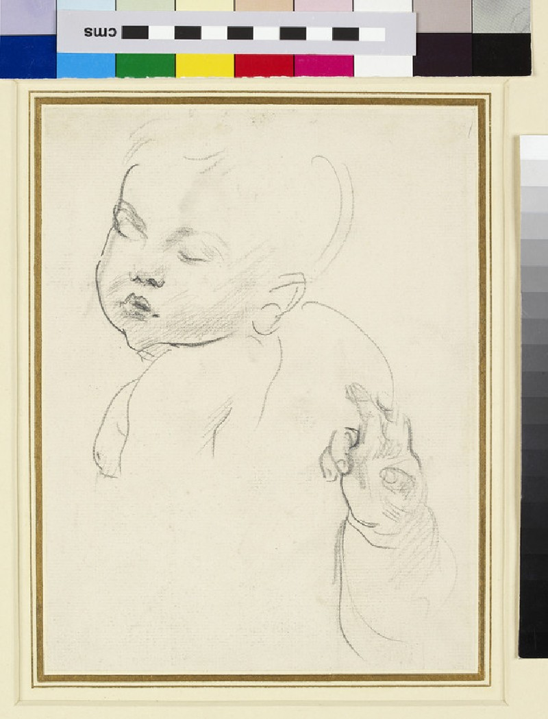 Study of an Infant's Head and Hand