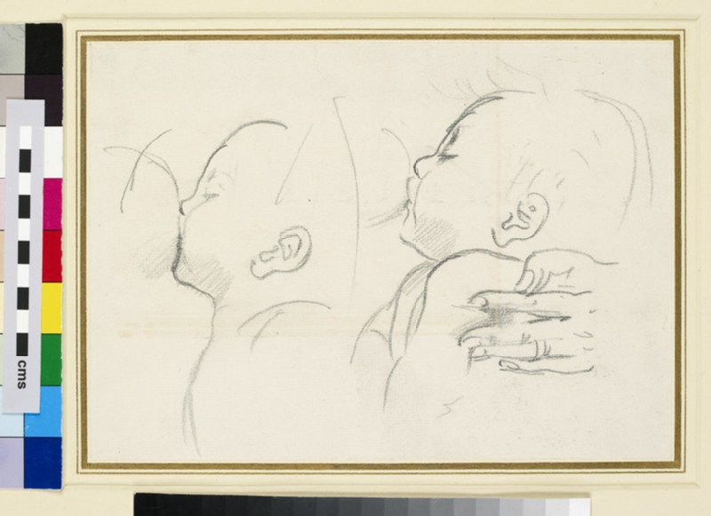 Two Studies of an Infant suckling (WA1929.191)