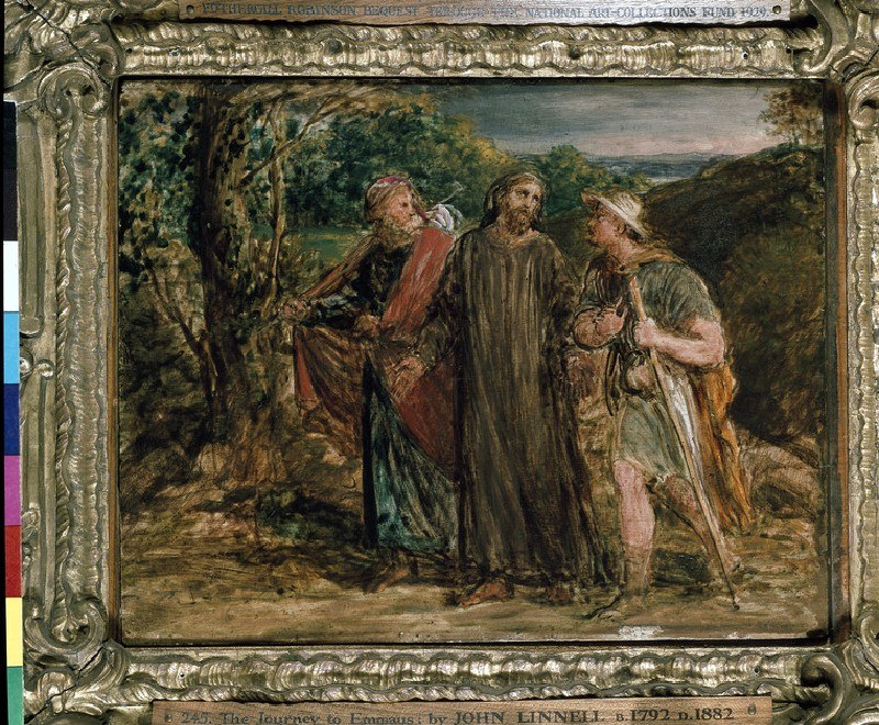 Sketch for 'Christ's Appearance to the two Disciples journeying to Emmaus' (WA1929.34)
