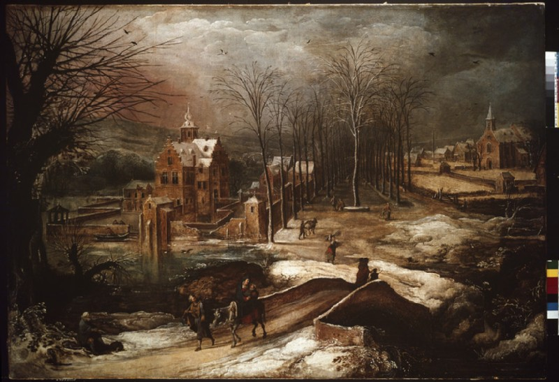 Winter Landscape with the Flight into Egypt (WA1931.16)