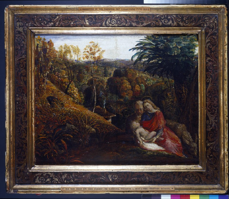 Landscape with the Repose of the Holy Family (Rest on the Flight into Egypt) (WA1932.2)