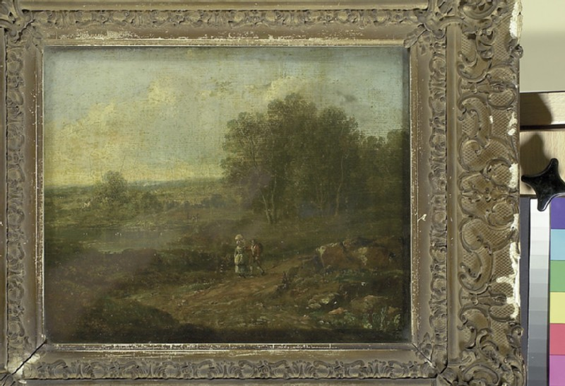 Landscape with two Figures walking along a Track (WA1932.216)