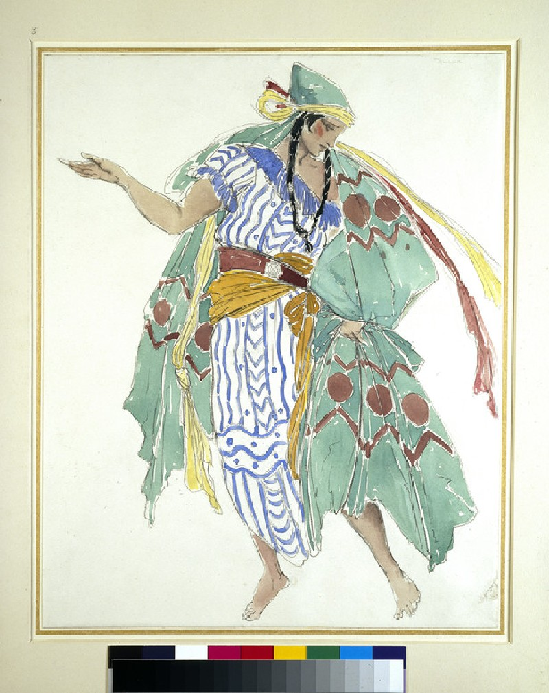 Costume design for a male dancer (WA1933.13)
