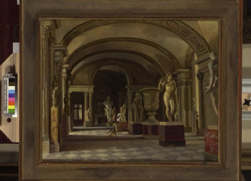 La Salle des Caryatides in the Louvre (WA1933.8)