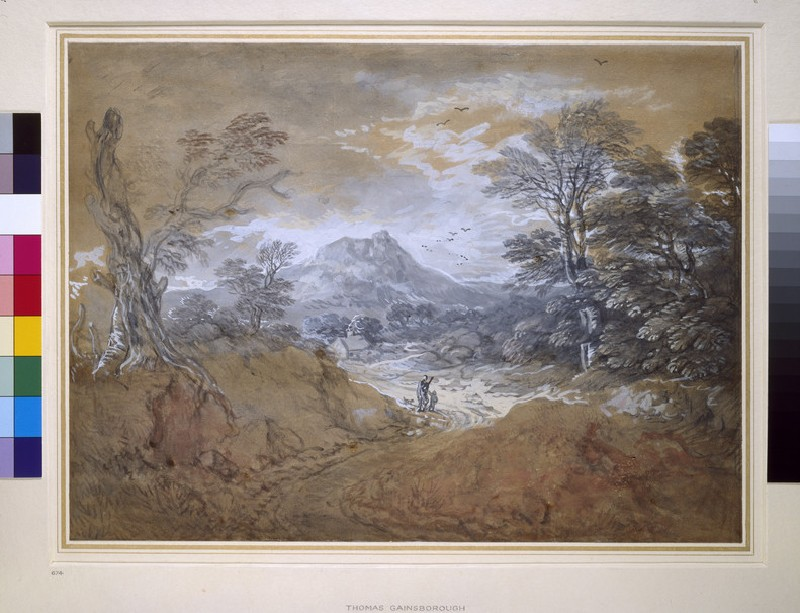Landscape with a Road at the Edge of a Wood