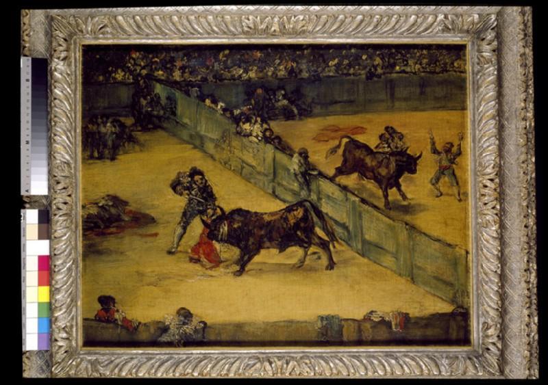 Scene at a Bullfight: División de place