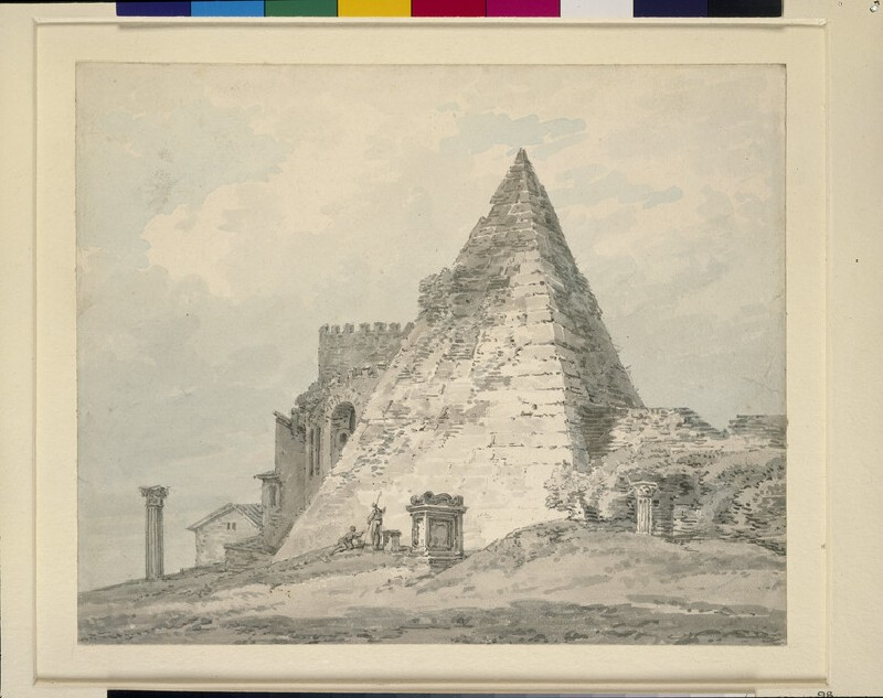 The Pyramid of Caius Cestius, Rome