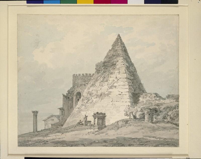 The Pyramid of Caius Cestius, Rome (WA1934.204)