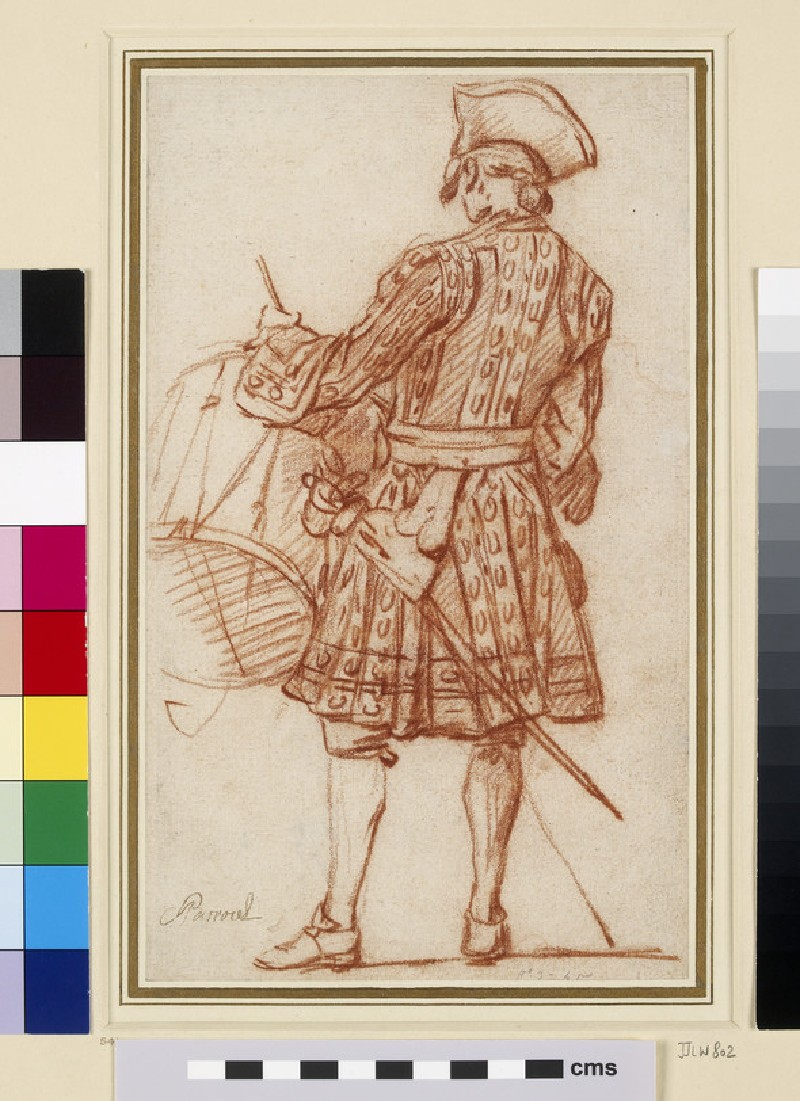 Recto: A drummer seen from behind<br />Verso: A Turkish horseman in profile to right (WA1934.278)