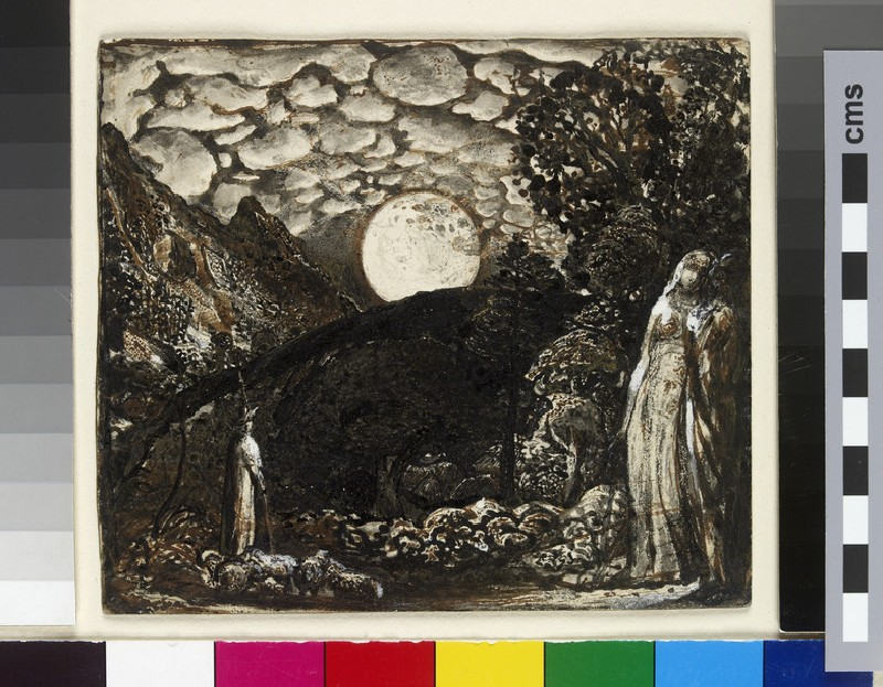 Shepherds under a Full Moon