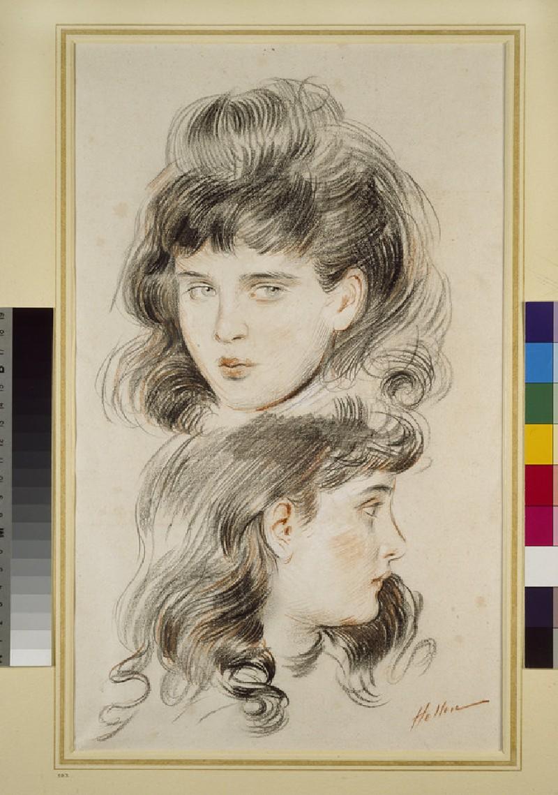 Two studies of a girl's head (WA1935.123)