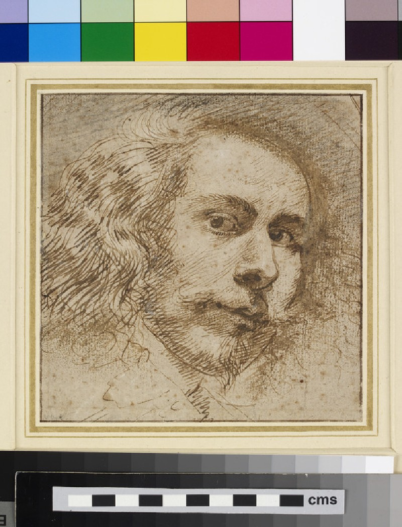 Head of a man, possibly self-portrait