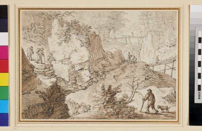 Rocky Landscape (WA1935.164, recto)