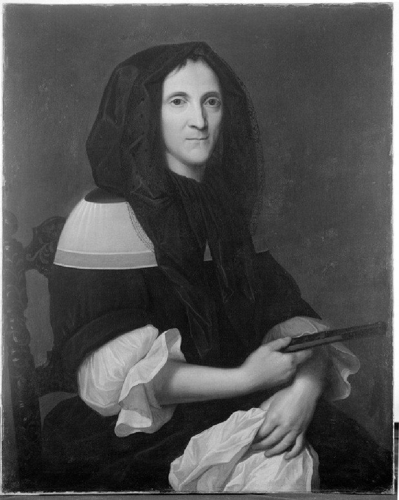 Portrait of a Lady wearing a black Mantilla (WA1935.6)