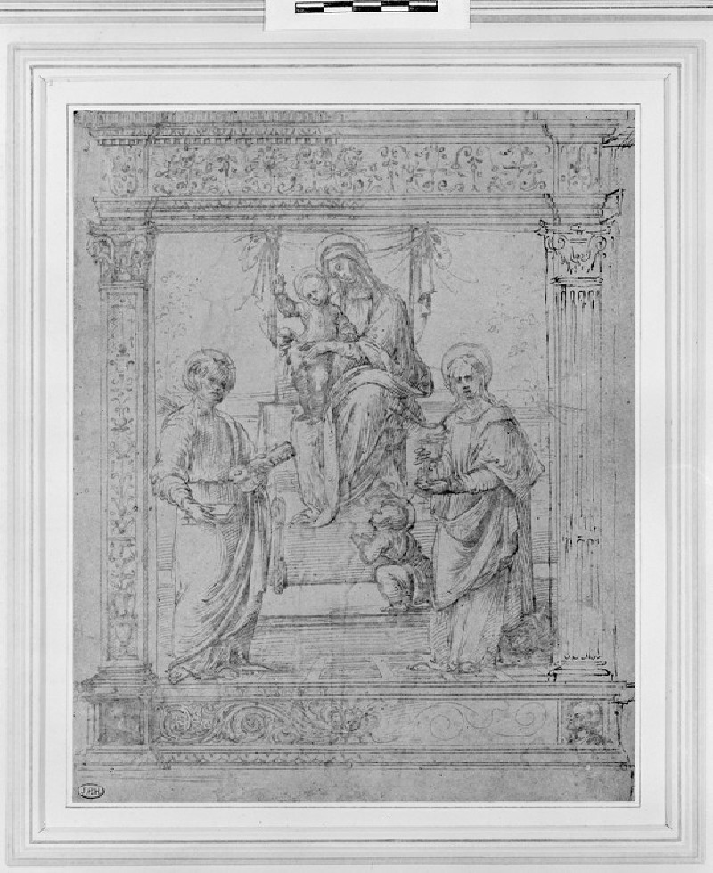 Design for an Altar-piece with the Virgin and Child, the young St John the Baptist, St Peter and St John the Evangelist