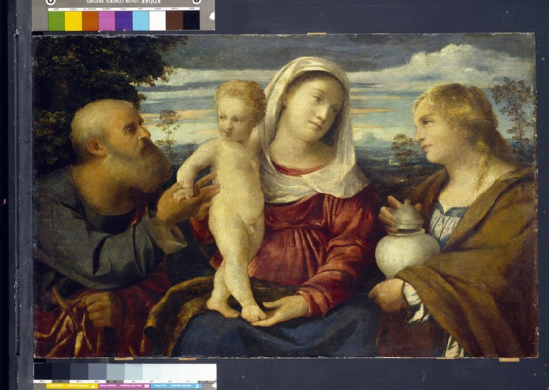 The Holy Family with St Mary Magdalen