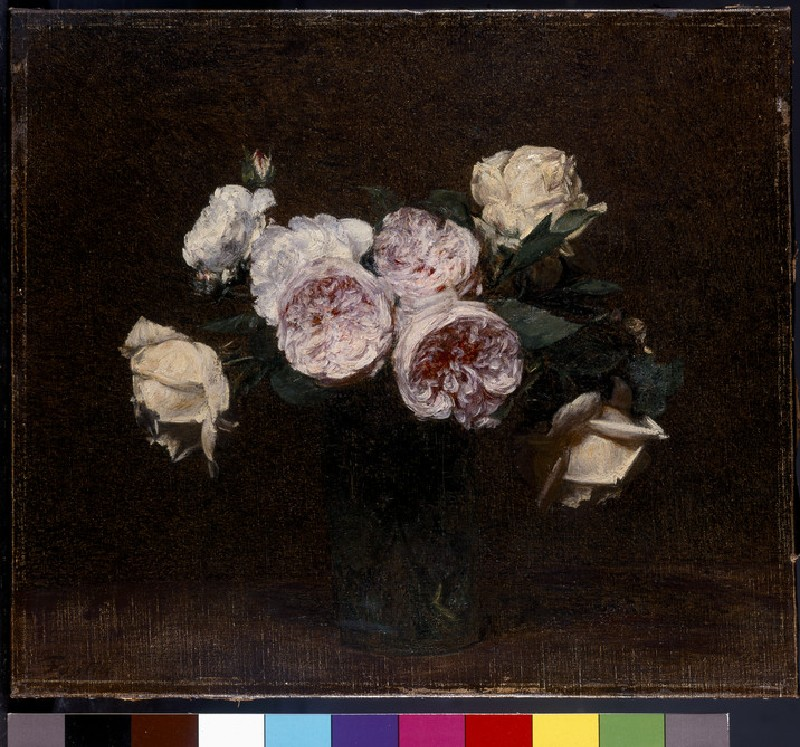 Still Life of Pink, White and Yellow Roses (WA1937.105)