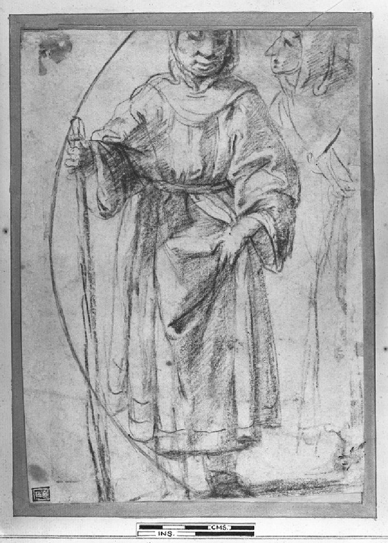 Recto: Beggar Woman
