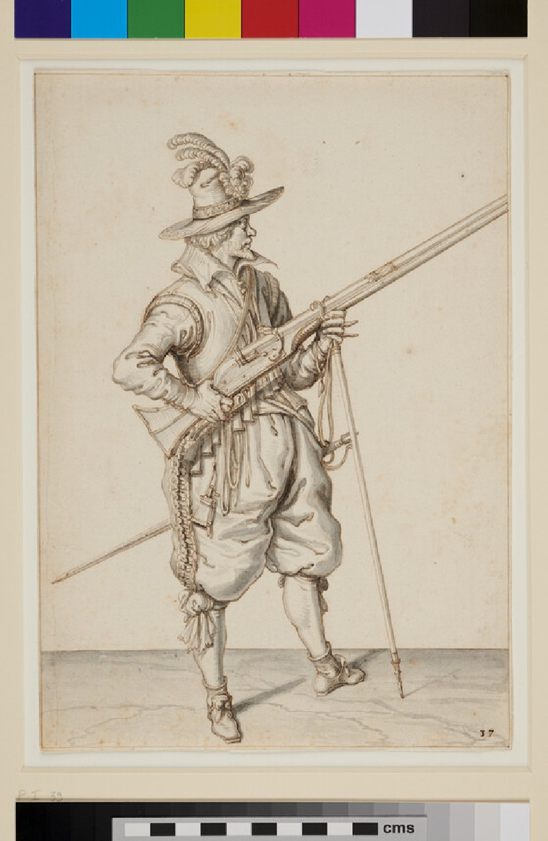 A Musketeer (WA1937.143, recto)