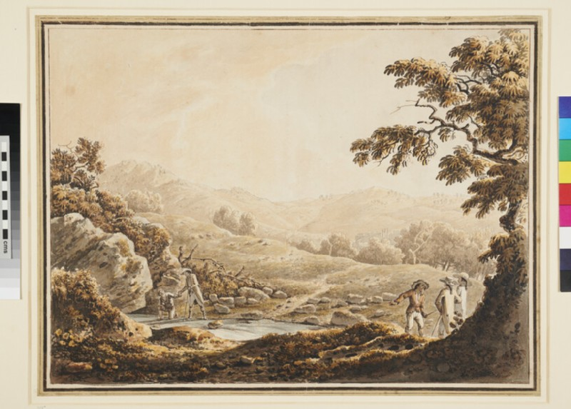 Hilly Landscape with Tourists (WA1937.162, recto)