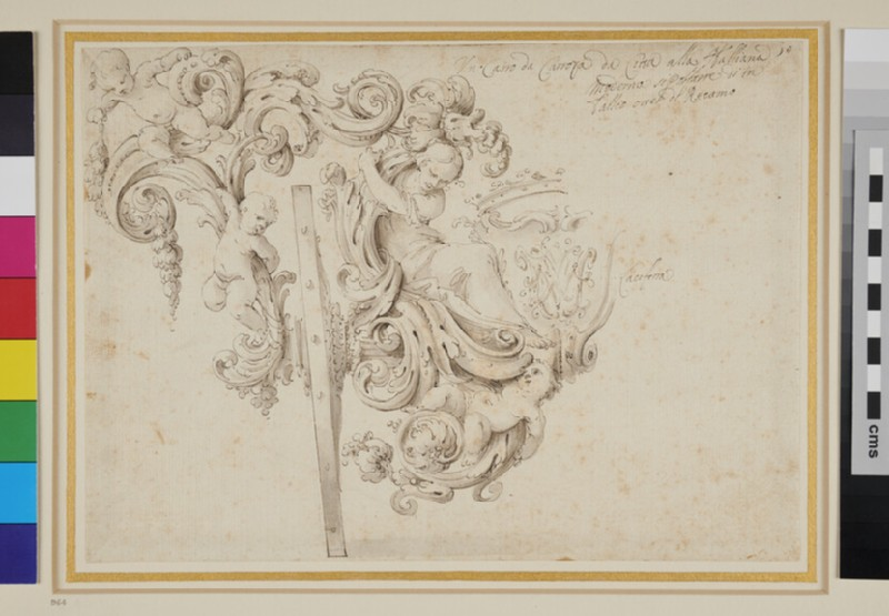 Design for the Decoration of the Rear of a Coach (WA1937.197.4, verso)