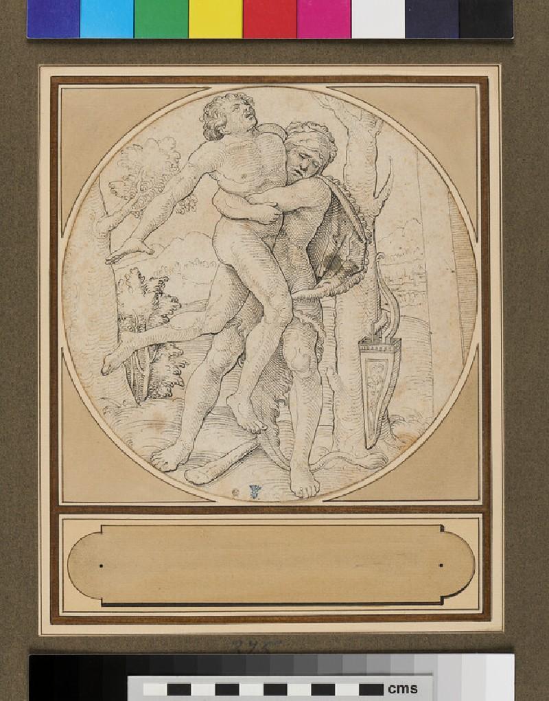 Hercules and Antaeus (WA1937.218, recto)