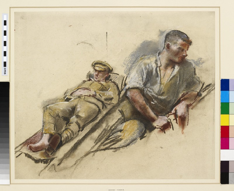 Study of two wounded soldiers (WA1937.311)
