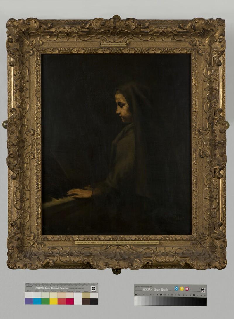 A Woman seated at the piano (WA1937.43)