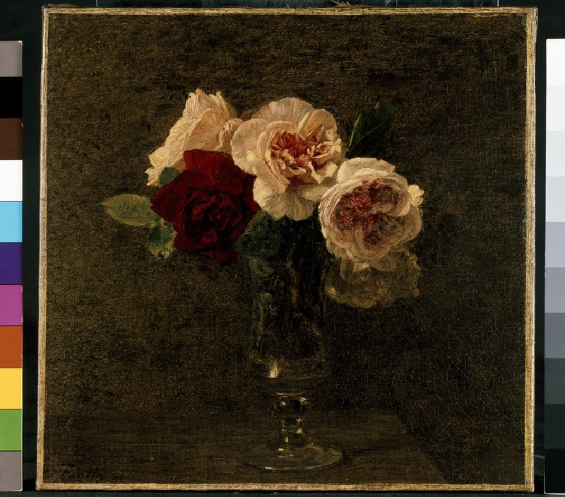 Still Life of Pink and Red Roses (WA1937.67)
