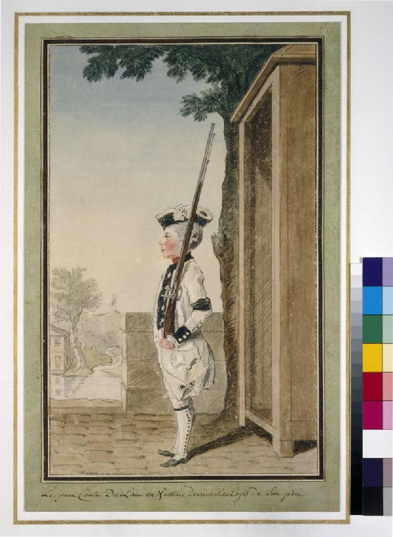 The comte du Lau on sentry duty (WA1938.117)