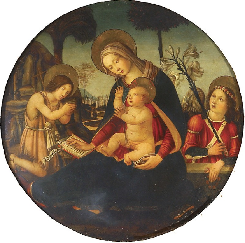 The Virgin and Child with the young St John the Baptist and an Angel (WA1938.126)