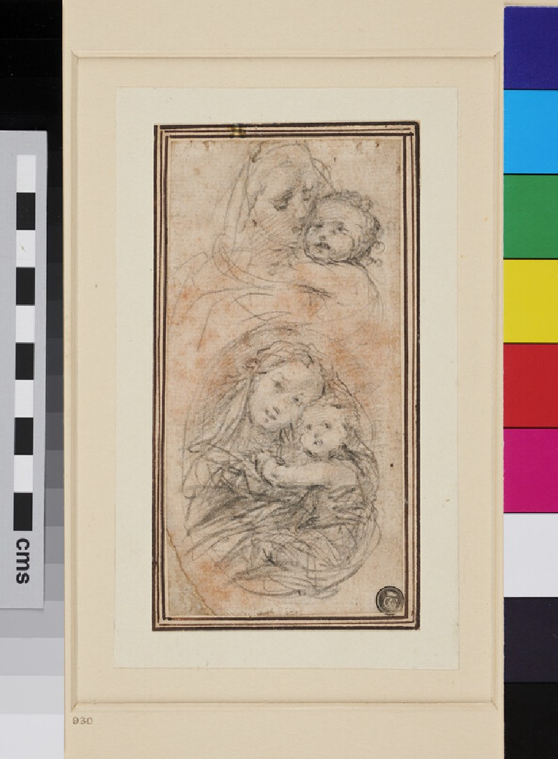 Two Studies for the Virgin and Child