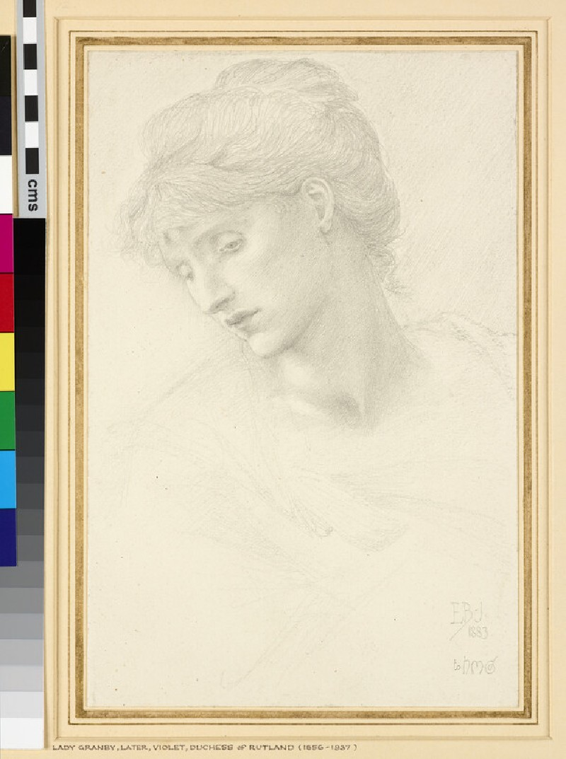 Head of a Woman (Lady Granby, afterwards Violet, Duchess of Rutland)