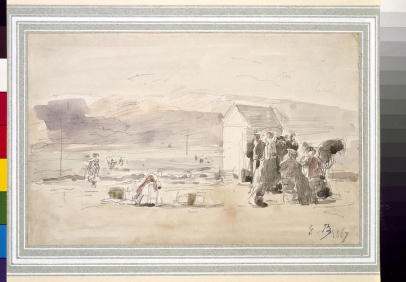 Figures on the seashore