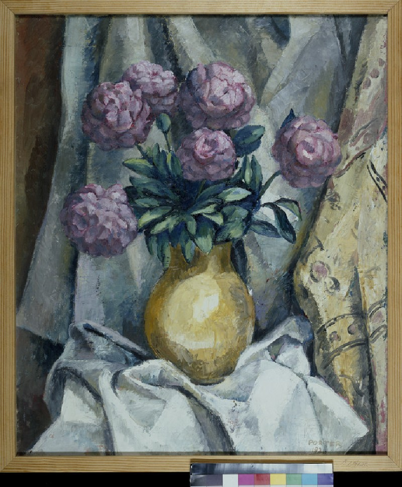 Peonies in a yellow Vase (WA1940.1.2)